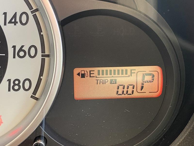 旧型デミオの燃費計測画面