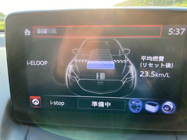 マツダ2燃費測定の画像の写真