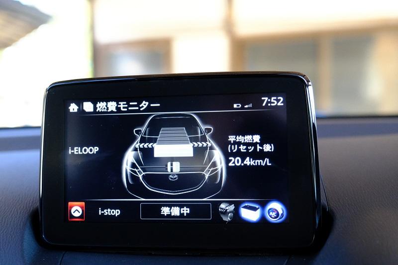 燃費系の表示の写真