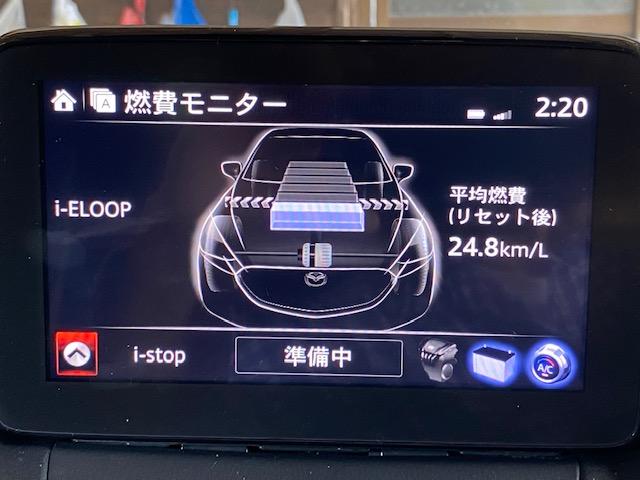 DPF再生後の燃費モニターの数値の写真