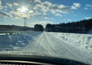 冬道の写真