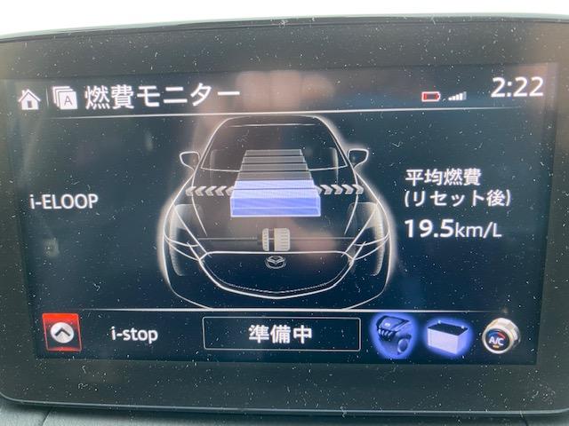 スタッドレスでの燃費モニターの写真