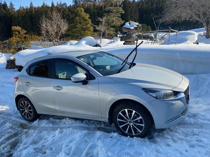 2月のマツダ2の洗車前の写真